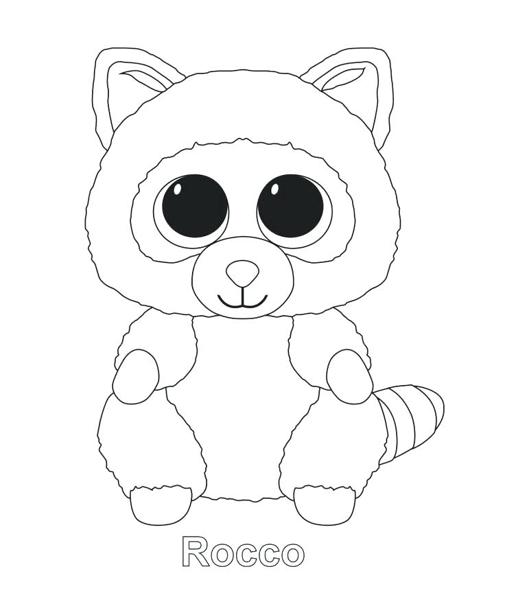 736x880 Ty Beanie Boo Coloring Pages To Print