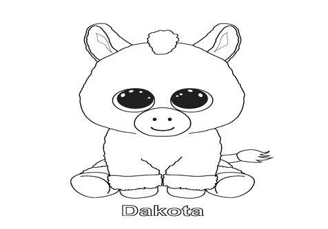 476x333 Beanie Boo Coloring Pages Beanie Boos Panda Coloring Pages Boo