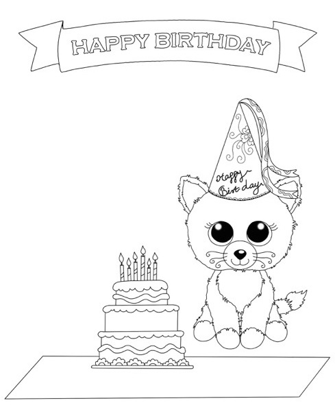 489x604 Beanie Boo Coloring Pages Featuring Favorite The Stuffed Animals