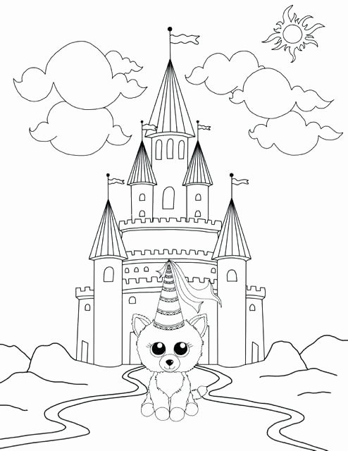 494x640 Boo Coloring Pages Image Beanie Boo Coloring Pages Unicorn