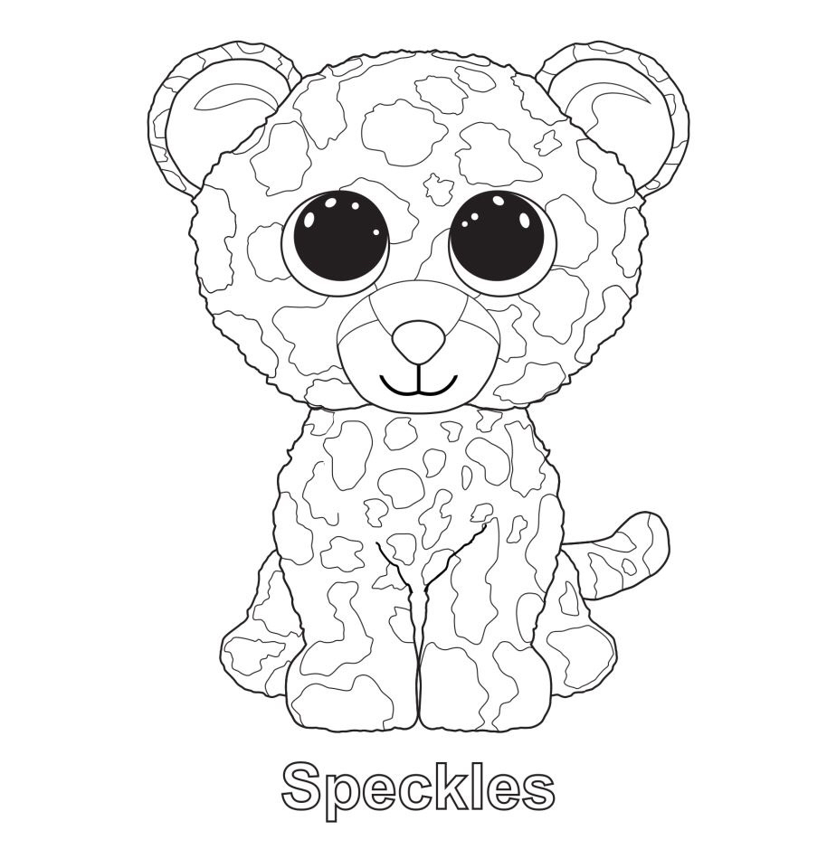 914x960 Immediately Free Printable Beanie Boo Coloring Pages Speckles