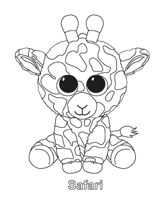 552x669 Art Coloring Beanie Boos Beanie Beanie Boo Coloring
