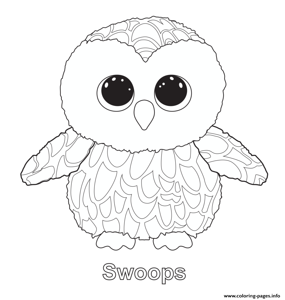 914x960 Print Swoops Beanie Boo Coloring Pages Print