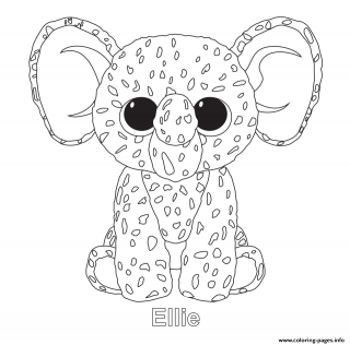 320x316 Ty Beanie Boo Coloring Pages To Print Owl Bunny Only Tremendous