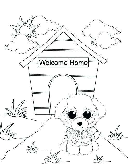 494x640 Webkinz Coloring Pages Coloring Pages Beanie Boo Coloring Pages