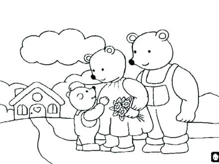 440x330 Goldilocks Coloring Pages Coloring Pages Coloring Page And Three