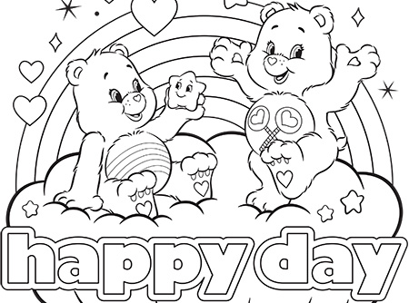450x334 Happy Day Care Bears Coloring Page Ag Kidzone
