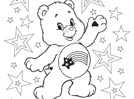 440x327 Meet America Cares Bear! Care Bears Coloring Page Ag Kidzone