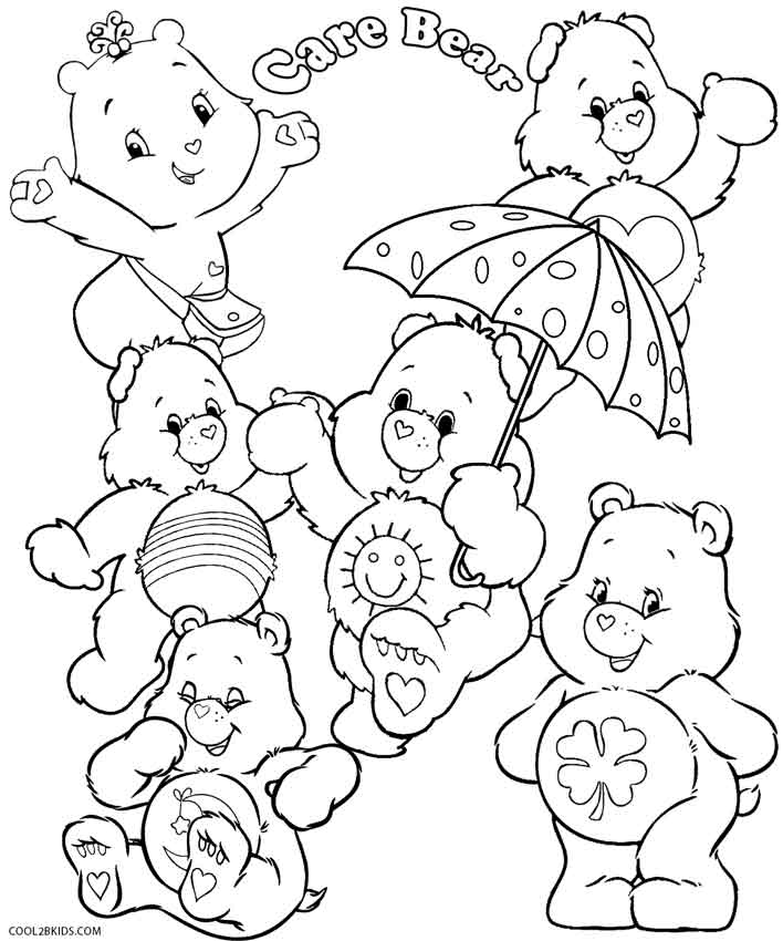 708x850 Printable Care Bears Coloring Pages For Kids