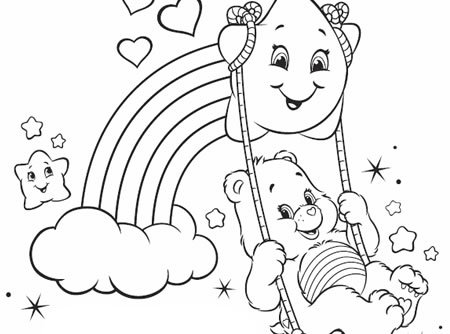 450x334 Stunning Idea Care Bears Coloring Pages Best With Additional