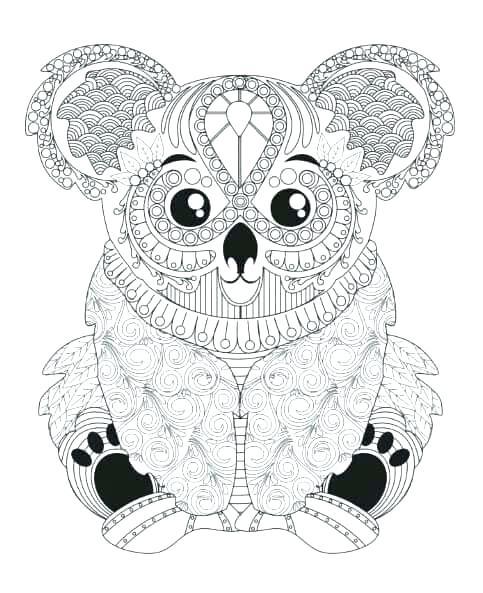 483x593 Koala Coloring Pages Koala Coloring And Printable Page Koala