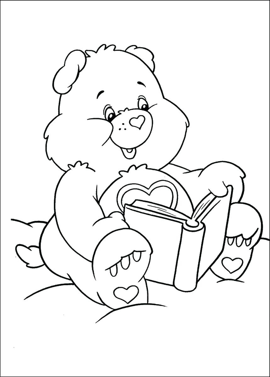 858x1200 Printable Care Bear Coloring Pages Free Coloring Pages Download