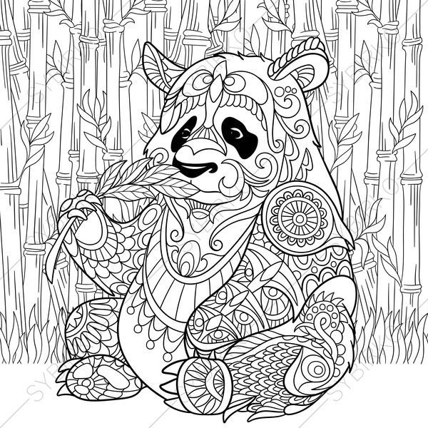600x600 Adult Coloring Pages Panda Adult Coloring Pages Panda Bear