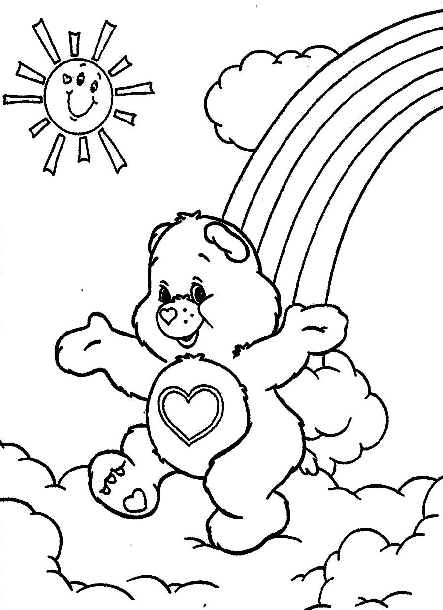 900x1240 Coloring Pages Care Bears