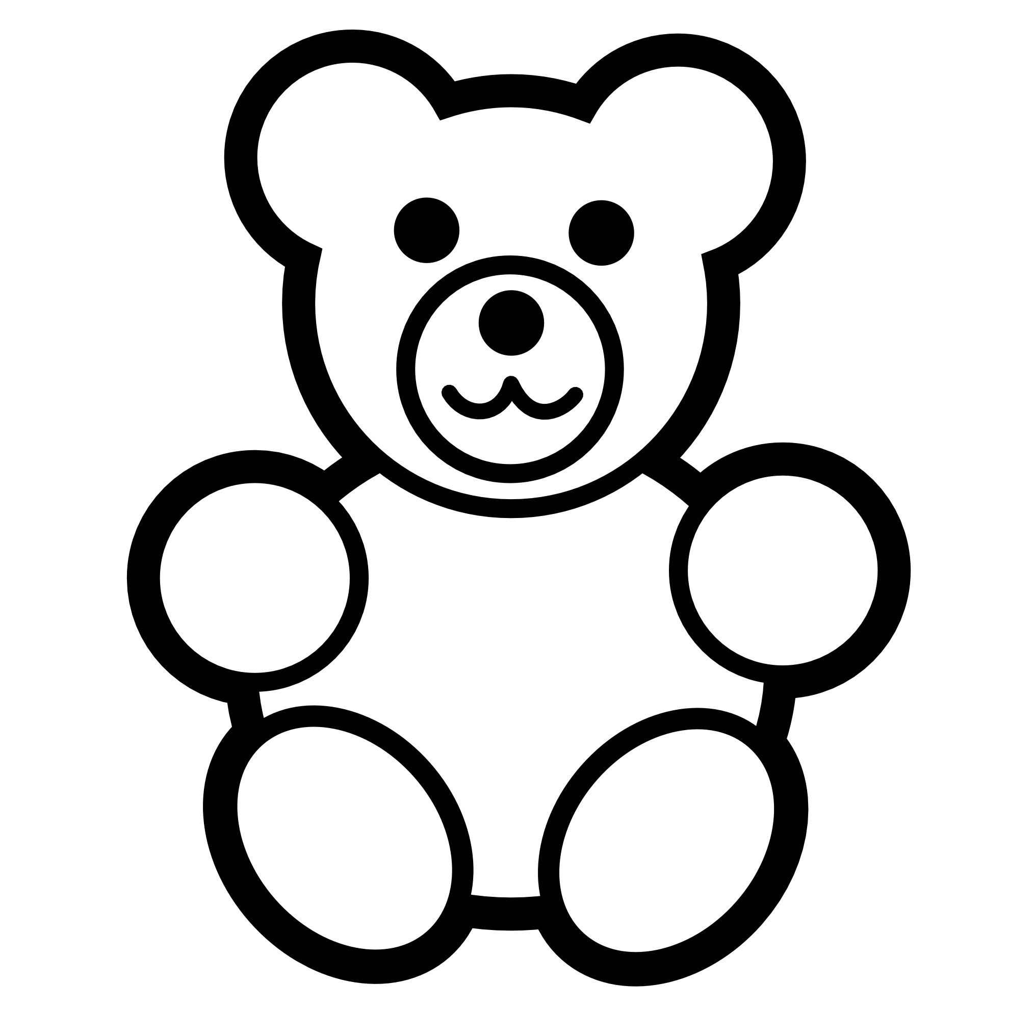 1979x1979 Authentic Teddy Bear Coloring Page Free Printa