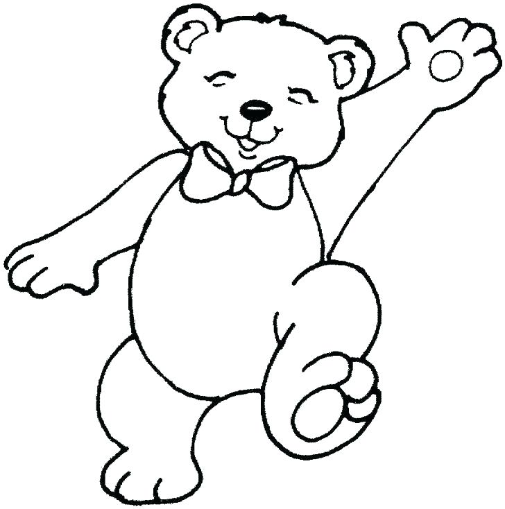 728x734 Teddy Bear Coloring Pages