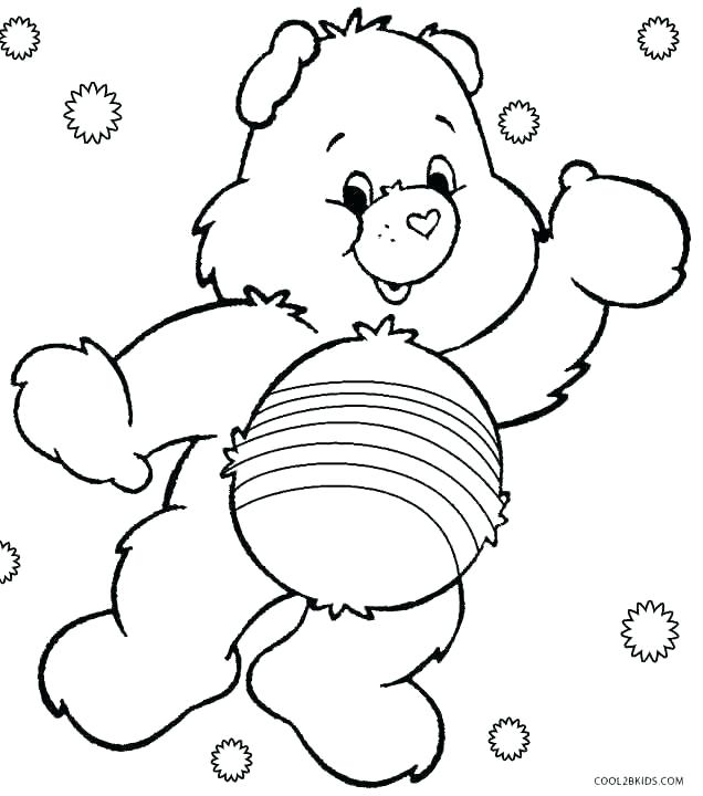636x720 Bear Coloring Pages Bear Coloring Pages Printable Care Bears