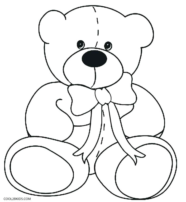 783x850 Bear Coloring Pages Teddy Bear Coloring Pages Care Pudsey Bear