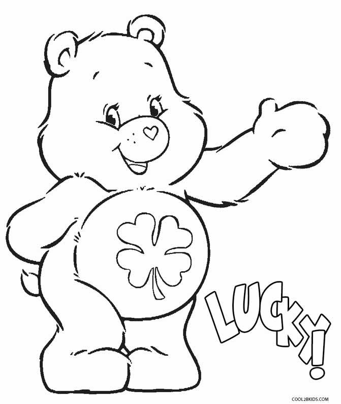 671x794 Bear Coloring Pages For Kids Printable Care Bears Coloring Pages