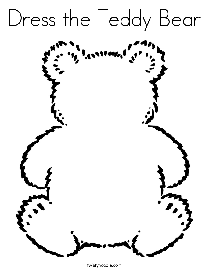685x886 Dress The Teddy Bear Coloring Page