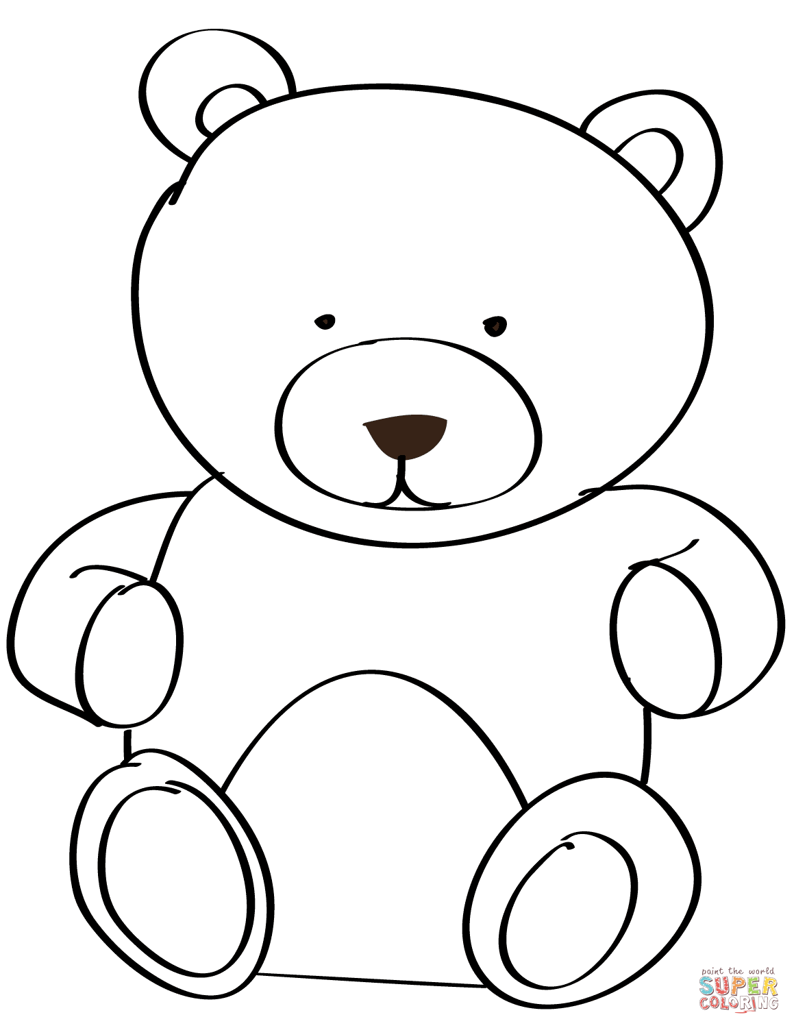 1159x1500 Reduced Colouring Pictures Of Bears Teddy Bear