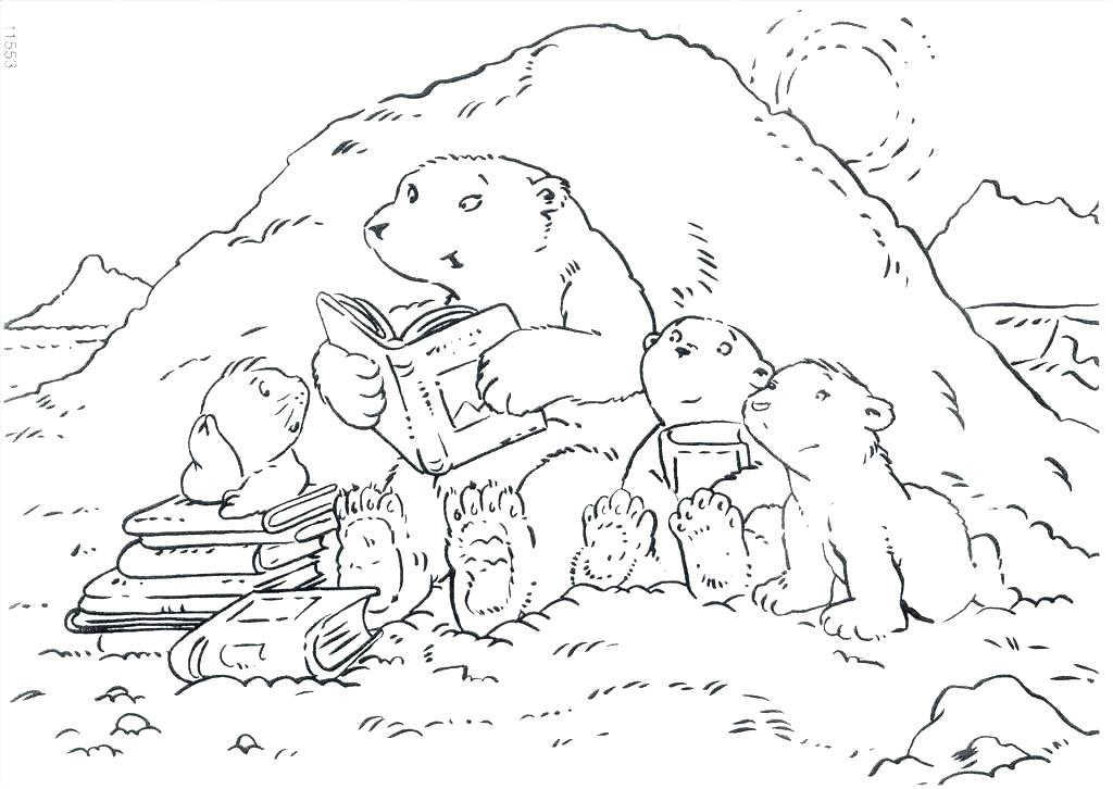 1024x726 Sleeping Bear Colouring Pages Printable Coloring Coloring Page