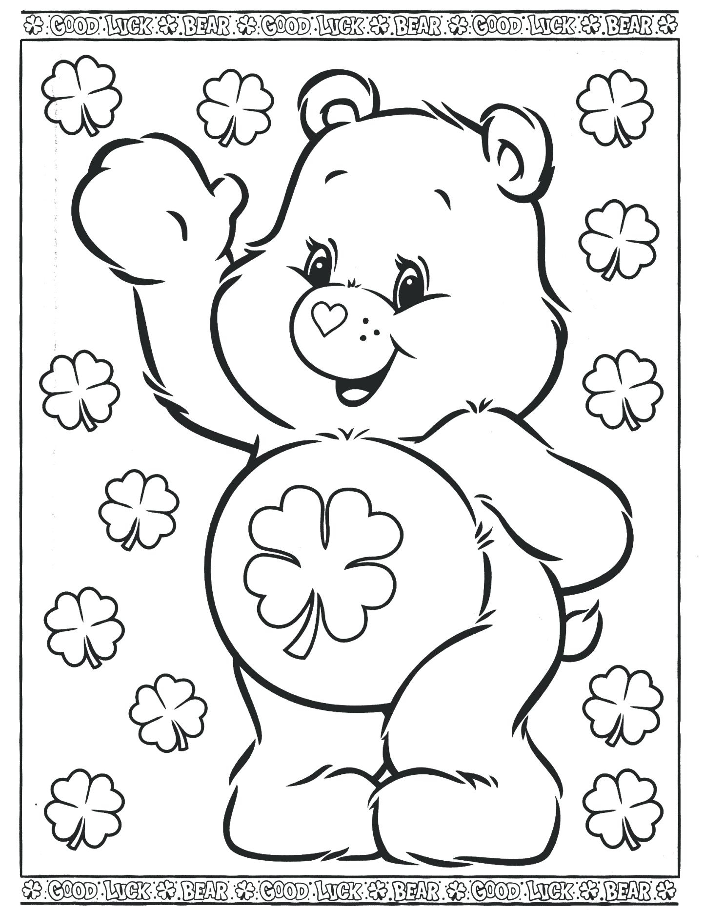 1445x1870 Care Bears Coloring Pages Printable Printable Coloring Page