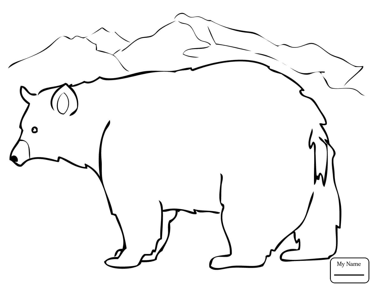 Bear Cub Coloring Pages