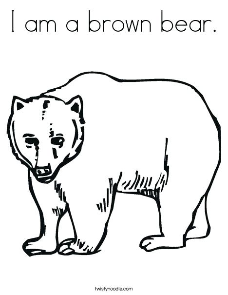 468x605 Brown Bear Coloring Pages Bear Mother And Bear Cubs Little Brown