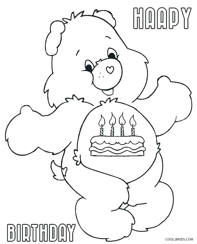 687x850 Coloring Page Of A Bear Coloring Bear Care Bear Coloring Pages