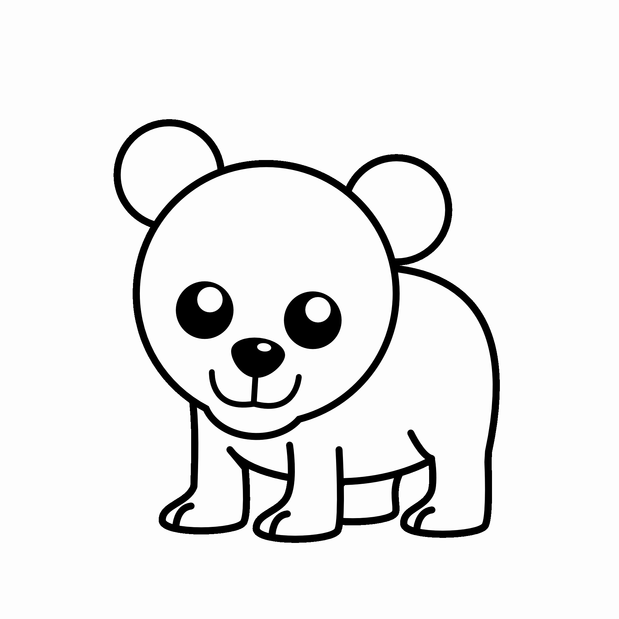1969x1969 Coloring Pages Little Cute Baby Polar Bear Stock Vector Ya
