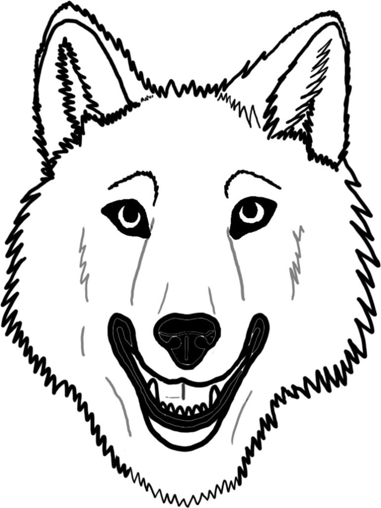 769x1024 Adult Wolf Face Coloring Pages Animal Coloring Pages Of Animal