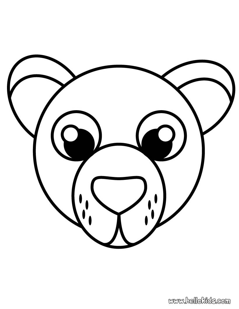 820x1060 Bear Coloring Pages