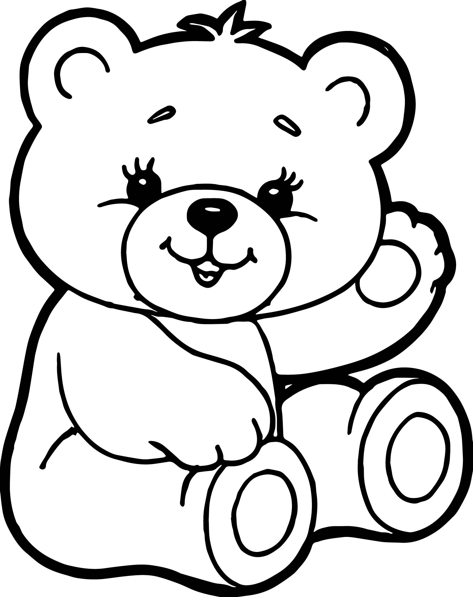 1542x1948 Bear Coloring Page Best Of Easy Bear Face Coloring Pages Logo