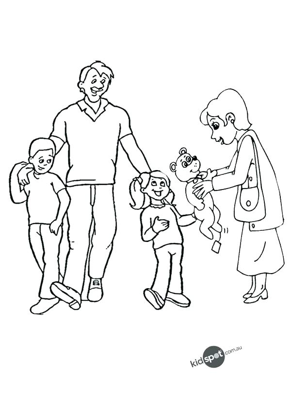 600x850 Coloring Pages Of Families Bear Family Coloring Pages Coloring