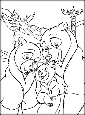 285x386 Cute Brother Bear Coloring Pages For Kids