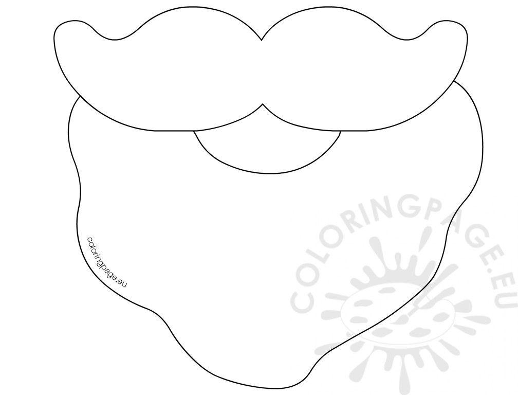 1008x768 Santa Beard Coloring Page