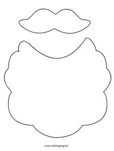 226x300 Santa Beard Coloring Page Printable Coloring Pages