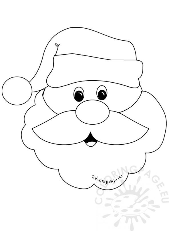 591x808 Santa Claus Face With Big Beard Coloring Page