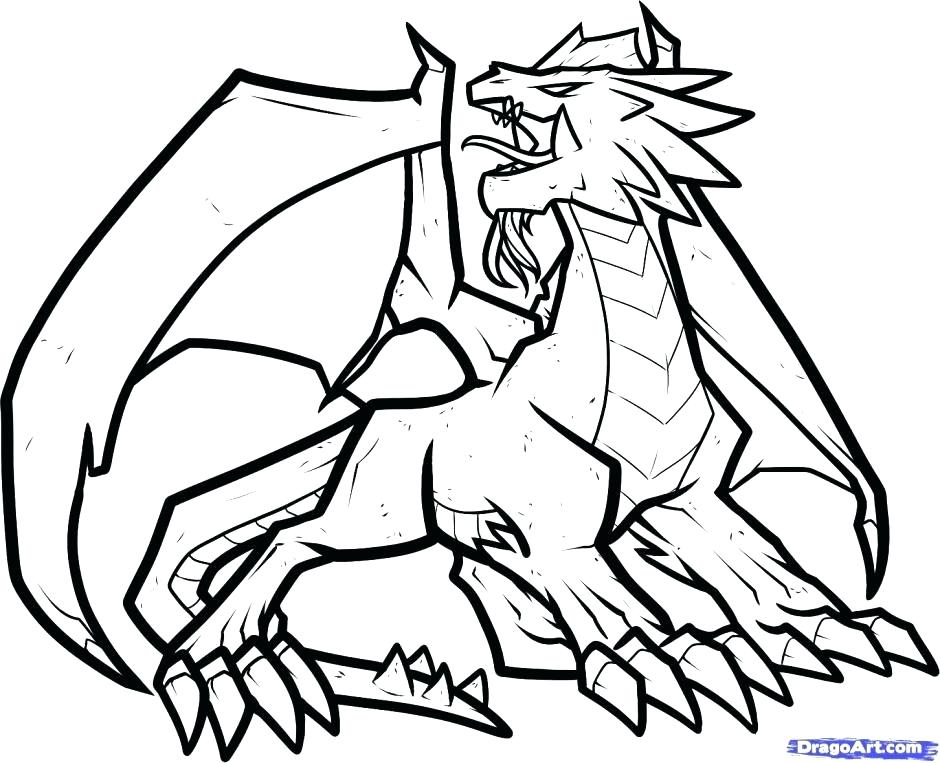 940x763 Cool Dragon Coloring Pages Bearded Dragon Coloring Pages Dragon
