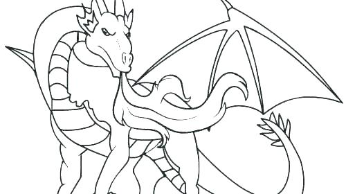 500x280 Dragon Coloring Pages