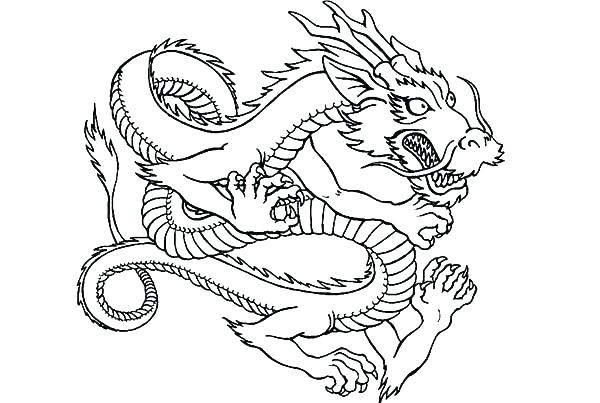 600x403 Dragon To Color