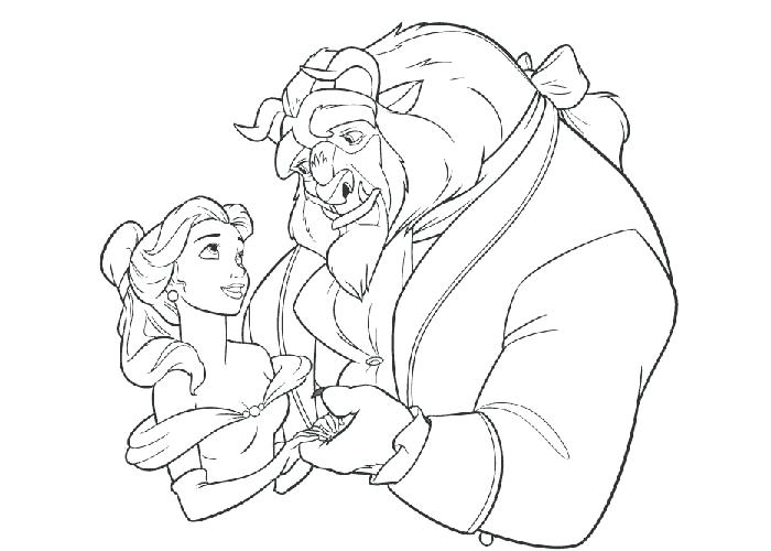 700x500 Beauty And The Beast Coloring Page Beauty And The Beast Coloring