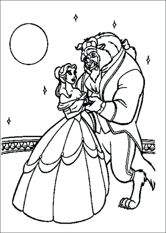 567x794 Beauty And The Beast Coloring Pages Beauty And The Beast Dancing
