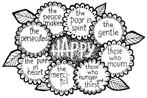 Beatitudes Coloring Pages At Getdrawings Free Download
