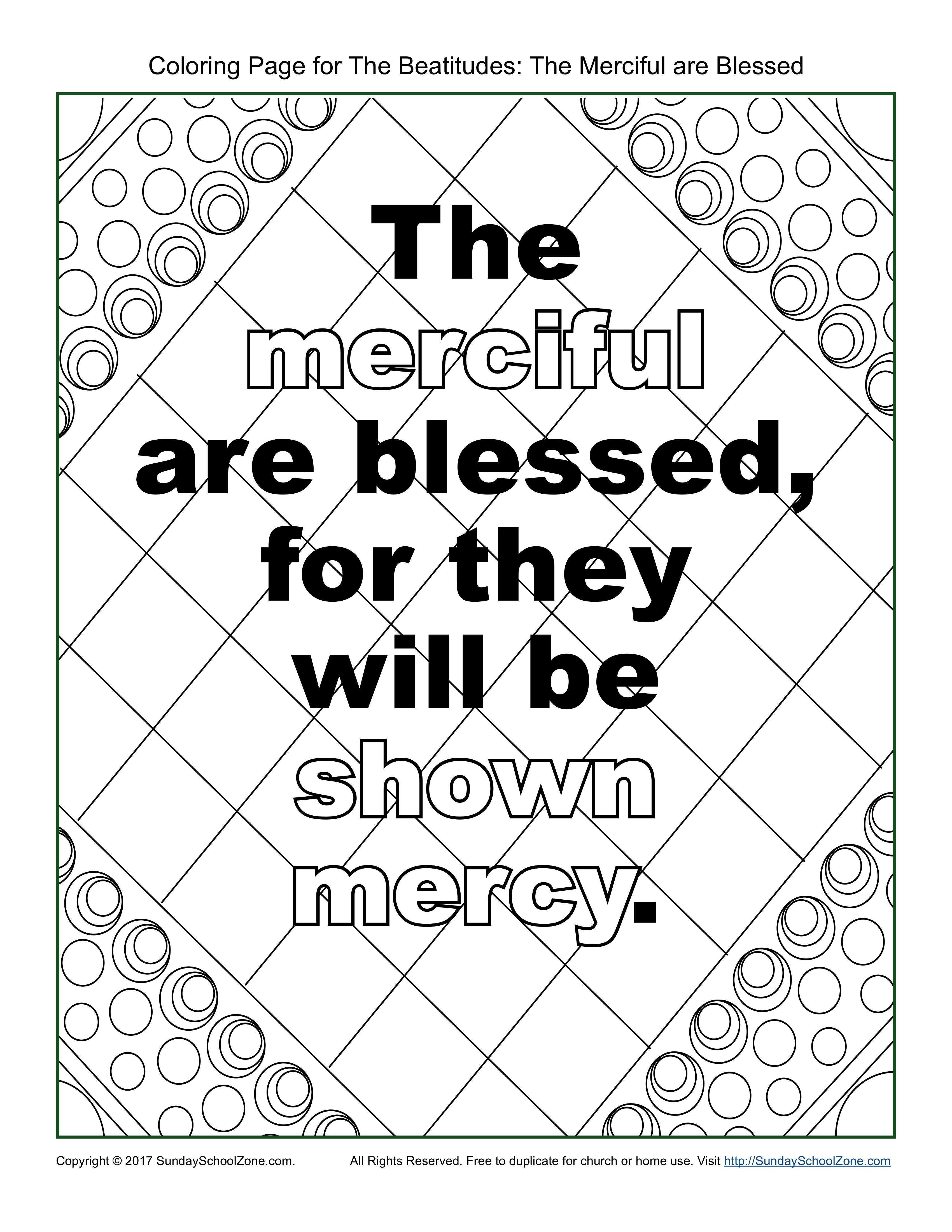 3400x4400 The Merciful Beatitudes Coloring Page On Sunday School Zone
