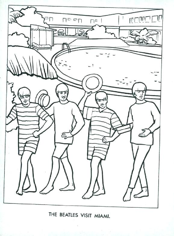 578x783 Beatles Coloring Pages Vintage Beatles Coloring Pages Free
