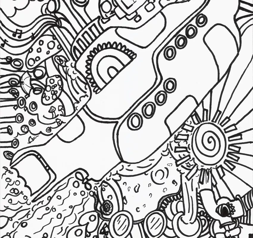 850x800 Beatles Yellow Submarine Coloring Page Many Interesting Pages
