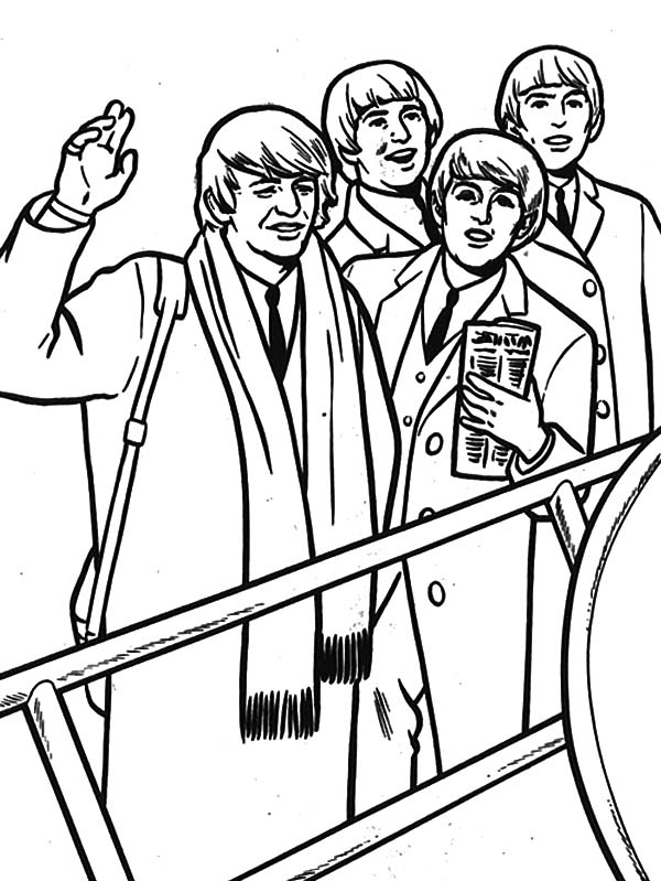 600x799 The Beatles Formation Coloring Pages Batch Coloring