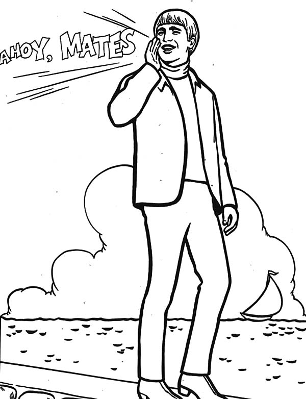 600x782 The Beatles John Lennon Calling His Mate Coloring Pages Batch